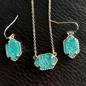 Druzy Earring / Necklace Set